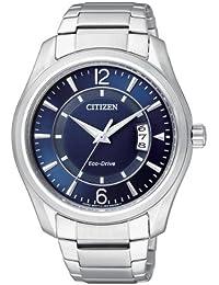 Citizen AW1030-50L - Reloj analógico de cuarzo para hombre, correa de acero inoxidable multicolor