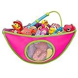 Baby Bad Spielzeug Organizer Spielzeugnetz Spielzeugtasche mit 2 Zusätzlichen Saugknöpfen Rosa