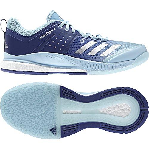 adidas Crazyflight X W, Scarpe da Pallavolo Donna, Vari Colori (Azuhie/Plamet/Tinmis), 36 EU