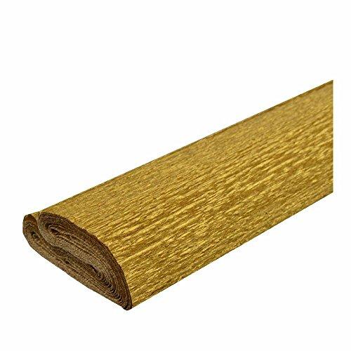 Krepppapier gold 50x250 cm - Wasserfest -