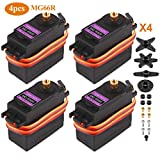 Innovateking-EU 4Pcs MG996R Micro Servo Metal Gear Digital Servo Motor Drehmoment für Smart Car Robot Boot RC Hubschrauber