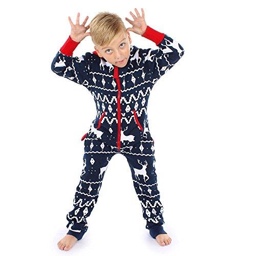 Yumimi88 Familie Kleidung Kinder Jungen Hoodie Outfit Print Weihnachten Elk Print Jumpsuit Latzhosen Overalls Streetwear Jacken Tops + Hosen Herbst Winter 2017 (6-7 Jahre)