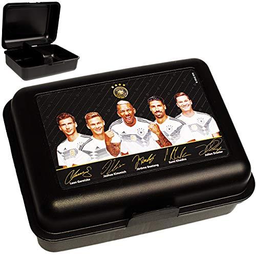 alles-meine.de GmbH Lunchbox / Brotdose - mit extra Einsatz -  Fußball - DFB Nationalmannschaft - Deutscher Fußball-Bund  - BPA frei - herausnehmbaren Fach - Brotbüchse Küche E..