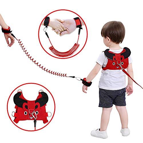 Lehoo Castle Imbracatura di Sicurezza per Bambini, Anti Perso Cinturino Cintura, Imbracature e guinzagli per bambini piccoli di sicurezza (Red cow(Mucca rossa))