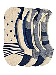 VINENZIA 5 Pair cotton no show, liner socks unisex socks