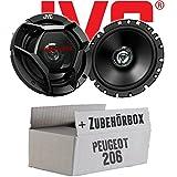 Peugeot 206 - JVC CS-DR1720 - 16cm 2-Wege Koax-Lautsprecher - Einbauset
