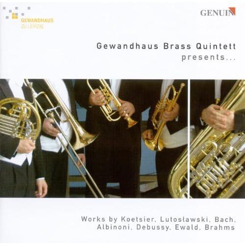 Brass Quintets - Koetsier, J. / Lutoslawski, W. / Ewald, V.