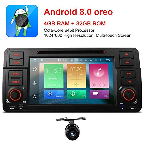 freeauto für BMW E46 320 325 17,8 cm Android 8.0 Multi Touch Bildschirm Autoradio GPS Canbus Screen Mirroring Funktion OBD2 Octa-Core 64bit 4 G RAM 32 GB ROM