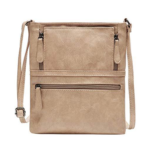 TianWlio Damen Klassische Handtasche Leder Handtasche Satchel Cross Body Reißverschluss Umhängetasche Kuriertasche Handtasche Winged Schultertasche Groß Umhängetasche Taschen