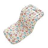 Kinderwagen Pad, Universal Cotton Cushion Padding Wendbare Sitzauflage für Säuglinge, Neugeborene Kinderwagen Autositz Liner Tragbare Wickelauflage(Zoo)
