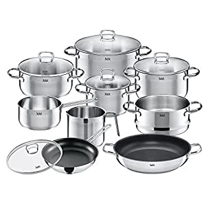 silit pot set 10 piece toskana pouring rim glass lid stainless steel suitable for induction hobs. Black Bedroom Furniture Sets. Home Design Ideas
