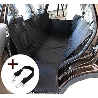 Hund Haustier Auto Sitzbezug Wasserdicht waschbar Hängematte Schutz für Autos SUV und LKW, WaterProof & NonSlip Backing und Sicherheitsgürtel, schwarz (140x150x45cm)