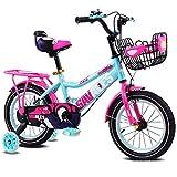 Zhangcaiyun Liegerad Kinder Jungen Gilrs Fahrrad mit Stablizers 12inch Alter 3-5Y Innen- (Farbe : Rosa)