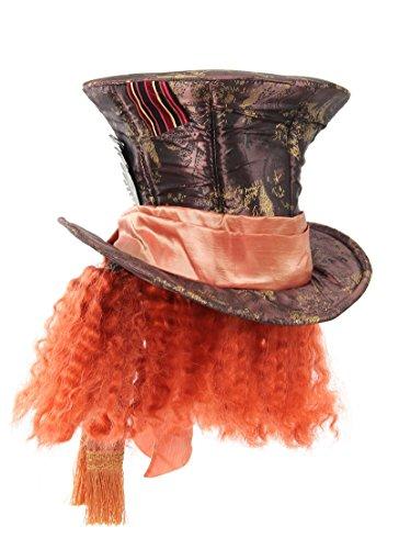 Old Glory Disneys Alice im Wunderland Verrückter Hutmacher Kostüm Hut mit Haaren für Erwachsene