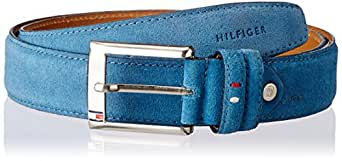 Tommy Hilfiger Hamburg Petrol Blue Leather Men's Belt (TH/FW13/AMERICAN/HAMBURG/PBL/ NON-REV/L)