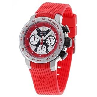 DeTomaso Lucca Dt1017 – Reloj de Caballero de Cuarzo, Correa de Silicona Color Rojo