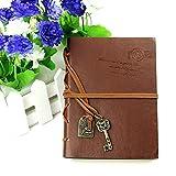 Monkeybrother Style Rétro Carnet portable en cuir journal quotidien Carnet de croquis(café)