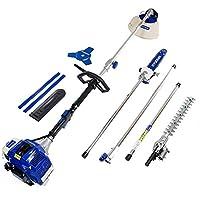 Hyundai 1 HYMT5080-Kit Multifuncional 4 en 1 jardineria, 1560 W, 0 V, Azul-Blanco, 107x28x30 cm