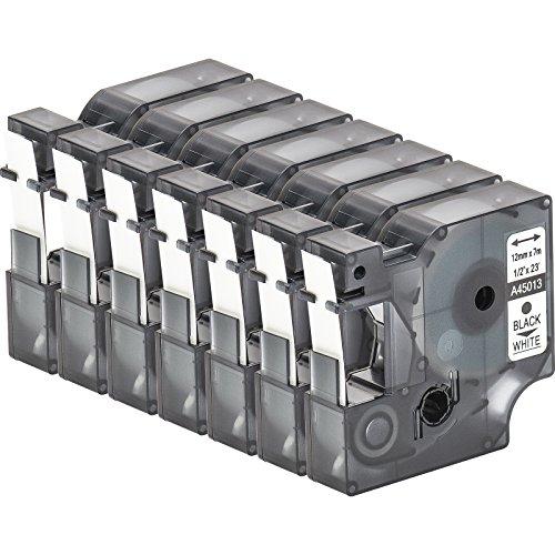 multipack-7-cassette-de-ruban-a-etiqueter-avec-dymo-d1-45013-en-noir-sur-blanc-12mm-x-7m-pour-labelm