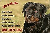 +++ ROTTWEILER - Metall WARNSCHILD Schild Hundeschild Sign - RTW 15 T2