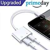 Prise en charge audio + charge + téléphone + contrôle volume + iOS 10.33/11.2 ou plus tard: il prend en charge le chargement et sortie audio en même temps. Design parfait pour iPhone x, iPhone 8/8 iPhone 7/7, cet adaptateur vous permet de connecter ...