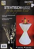 Brandsseller Stehtischhusse Indoor-/Outdoor-Tischdecke Strech-Husse für Bistrotische/Stehtische - Tischdurchmesser: 60 cm - Farbe: Creme - 5