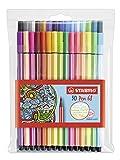 Premium-Filzstift - STABILO Pen 68-30er Pack - mit verschiedenen Farben inklusive 6 Neonfarben