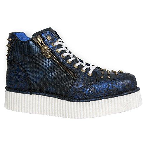 New Rock M Crp002 S5, Unisex-Erwachsene Stiefel Blau (vintage Flower Azul/box Azul/met)