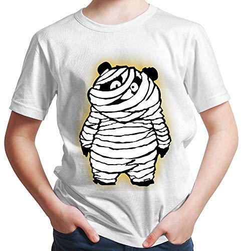 HARIZ  Jungen T-Shirt Kleiner Pandabär Mit Mumie Halloween Kostüm Horror Umhang Plus Geschenkkarte Rot 140/9-11 - Kleine Rote Plus Für Erwachsene Kostüm