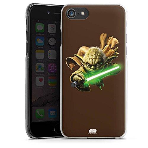 Apple iPhone X Silikon Hülle Case Schutzhülle Star Wars Merchandise Fanartikel Yoda Lichtschwert Hard Case transparent