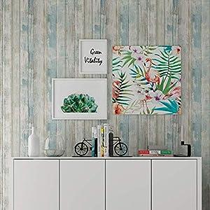 Holz Folie Selbstklebend 30cmX300cm Blau,Peel and Stick,Aufkleber für Möbel, Klebefolie Holzoptik,Tapete Selbstklebend