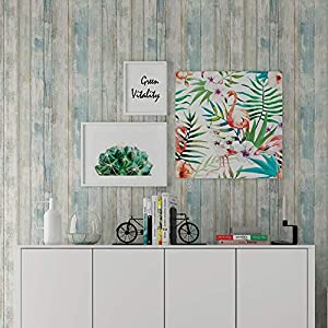 Holz Folie Selbstklebend 30cmX300cm Blau,Peel and Stick Contact Paper Wasserdicht Self Adhesive Vinyl Aufkleber für Möbel, Klebefolie Holzoptik,Tapete Selbstklebend
