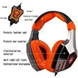 Sades A60 7.1 Surround Sound Stereo PC Pro USB Gaming Headsets Over-ear Headphones with Microphone Vibration Sades Retail Box(Electroplating Version)