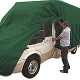 hochwertige Wohnmobil Reise-Mobil Auto Abdeckplane Schutzhülle Wohnmobilplane | 6,1-6,5 m | atmungsaktive Dreischichten-Schutz-Plane | (Typ 18: Wohnmobil - grün - (610-650*250))