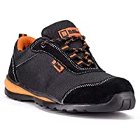 Black Hammer Mens Steel Toe Cap Safety Trainers Ultra Lightweight Kevlar Midsole Work Shoes Ankle Boots Hiker 4444 S1P SRC Non Slip