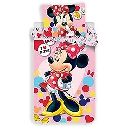 Disney Minnie Pink Juego de Cama Funda nórdica de Cama 1Plaza