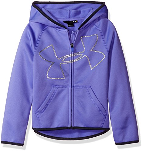 Toddler Full Zip Hoodie (Under Armour Toddler Girls' UA Logo Zip Hoodie, Violet Storm Glitter, 2T)
