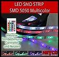 KOMPLETT SET: 5m LED RGB mehrfarbig Strip / Leiste /Streifen /Stripes wasserfest mit Netzteil + Controller + Fernbedienung von Noyes auf Lampenhans.de