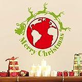 TYLPK Rennes autour du monde Stickers joyeux Noël papier peint chambre d'enfant décalcomanie amovible Xmas12 livraison gratuite
