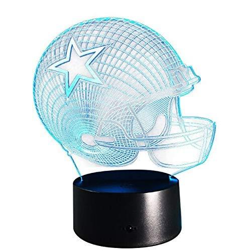 Fliyeong 3D Bunte Fußballkappe Spielzeughelm Licht Geschenk möbel Illusion Lichter 3D Fußball Hüte 3D Visualisierung Optische Täuschung Wohnkultur Lampe Geringer Stromverbrauch Hohe Qualität -