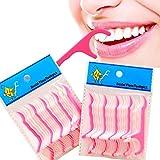Msmask 2x25pcs Dental Floss-Stick Dental Flosser Zahnstocher Zahnstocher Polituren Gums
