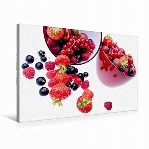 Premium Textil-Leinwand 75 cm x 50 cm quer Frische Beeren | Wandbild, Bild auf Keilrahmen, Fertigbild auf echter Leinwand, Leinwanddruck (CALVENDO Lifestyle) (Küchen-timer Obst)
