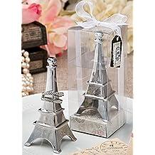 Metal cromado porta anillos de la torre Eiffel