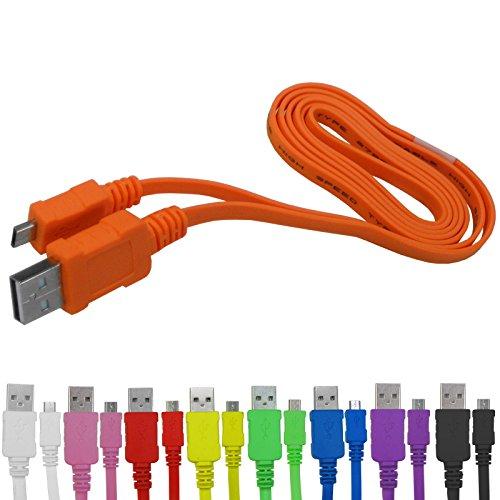 Highspeed Micro USB 2.0 Flachkabel Ladekabel Datenkabel für Datenübertragung für Samsung Galaxy S3 S4 S5 mini active Note 2 3 Ace Wave Zoom (USB-A Stecker an Micro-B Stecker)