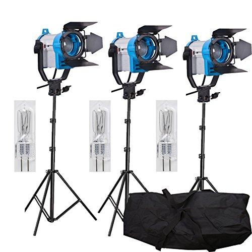 Fresnel de tungsteno vídeo 150W iluminación Continua como Arri Spot Light Pro Tres Set