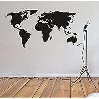 Wandaufkleber Wandtattoo Weltkarte World Länder Kontinente Wandsticker Sticker Wanddeko 3 Größen 20 Farben zur Auswahl
