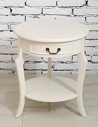 QianDa Etagère à fleurs Table à café en bois massif Atterrissage intérieur Table ronde en plein air Tables de téléphone (Couleur : B)