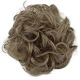 PRETTYSHOP Postizo Coletero Peinado alto, VOLUMINOSO, rizado, Moño descuidado natural de rubio # 103 G25A