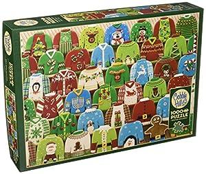 Cobblehill 80143 - Puzzle de 1000 Piezas, diseño de suéteres de Navidad