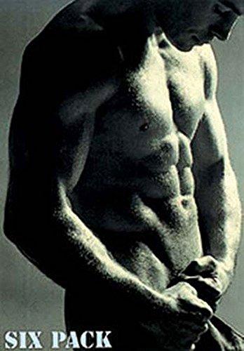 Männer - Sixpack - Akt Poster Erotik Poster Sepia Foto nackter Mann Sixpack Oberkörper - 61x91,5 cm + 1 Ü-Poster der Grösse 61x91,5cm